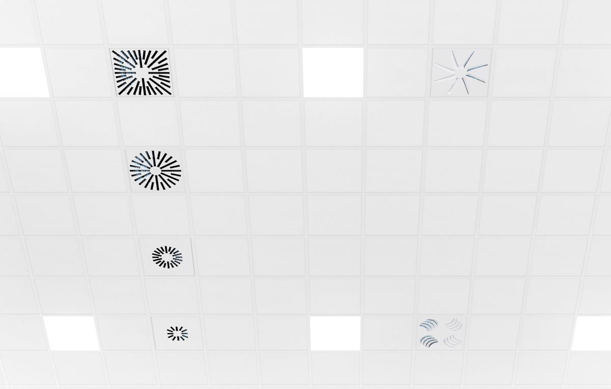 Six modèles de diffuseurs UV de plafond à irradiation UVC pour répondre à tous les besoins de ventilation