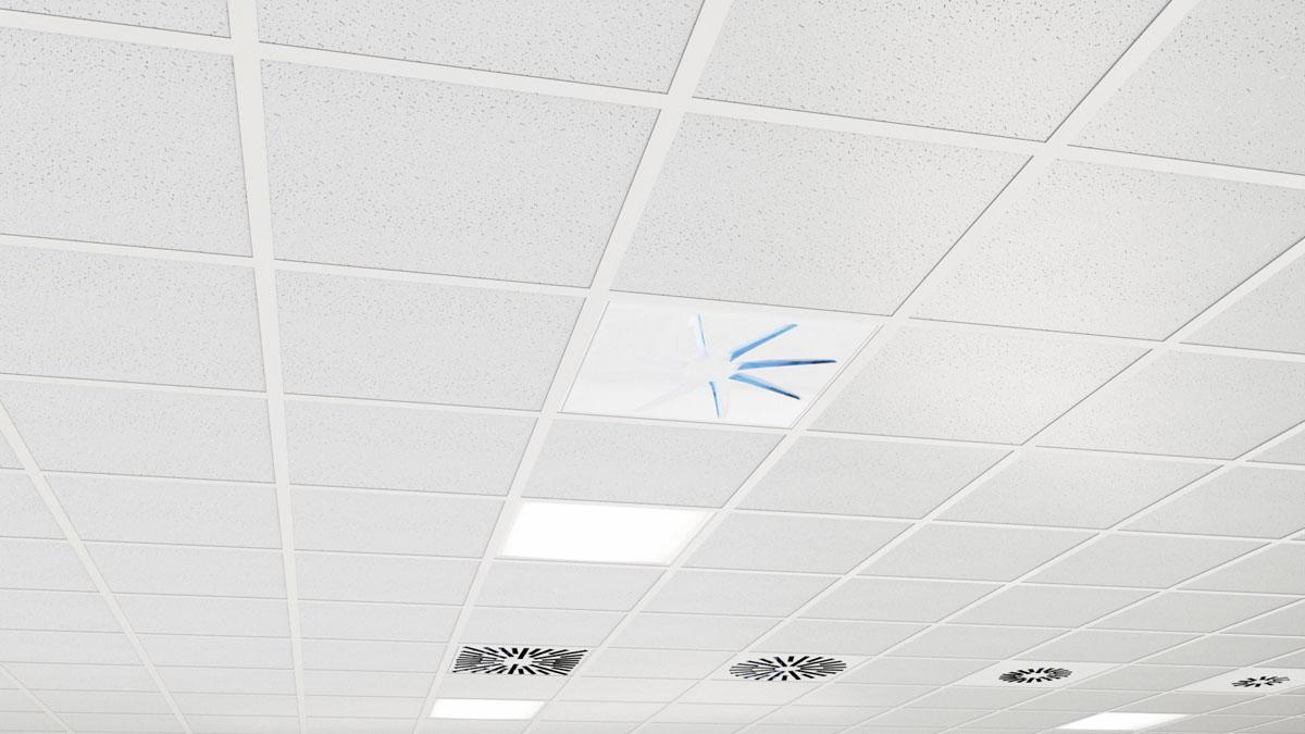 Diffuseur UV de plafond hélicoidal architectural OTO-UV