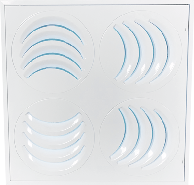 Diffuseur UV de plafond ajustable PLAY-UV en mode 3 voies