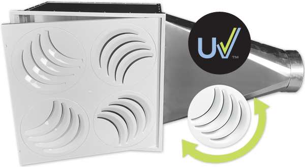 Diffuseur ajustable PLAY-UV à filtration UVC