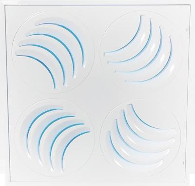 Diffuseur UV de plafond ajustable PLAY-UV en mode hélioïdal