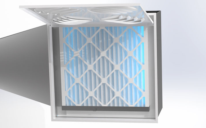 Purification de l'air avec filtre MERV-9