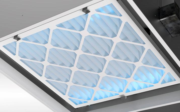 Filtration de l'air avec les diffuseurs UV