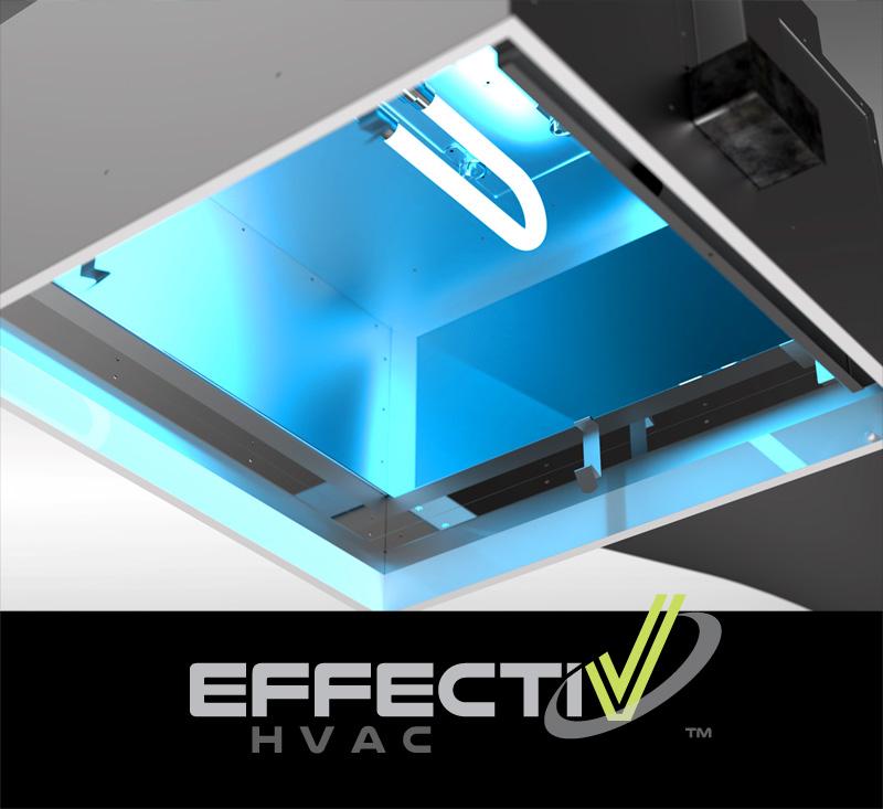 Désinfection de l'air avec lumière UV-C des Diffuseurs UV par EffectiV HVAC